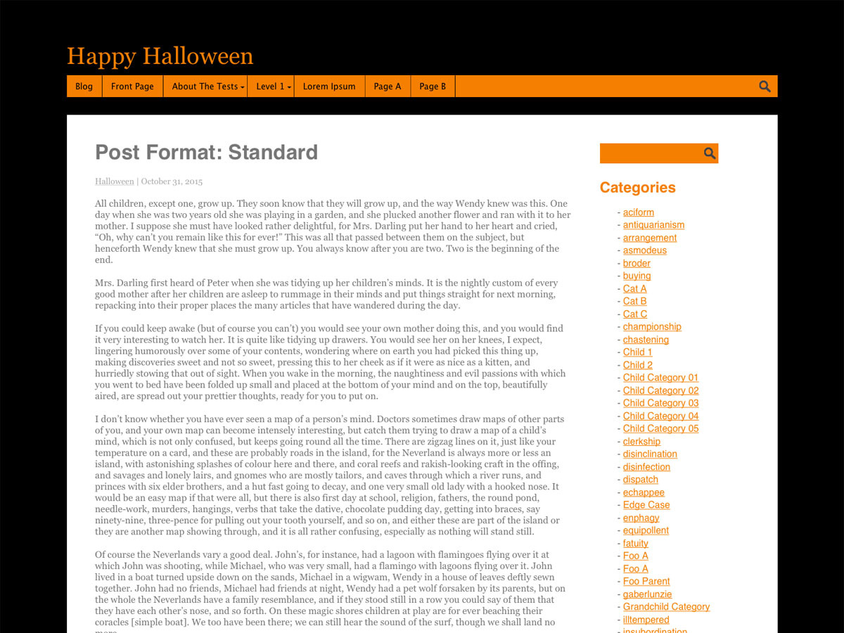 Halloween theme WordPress free