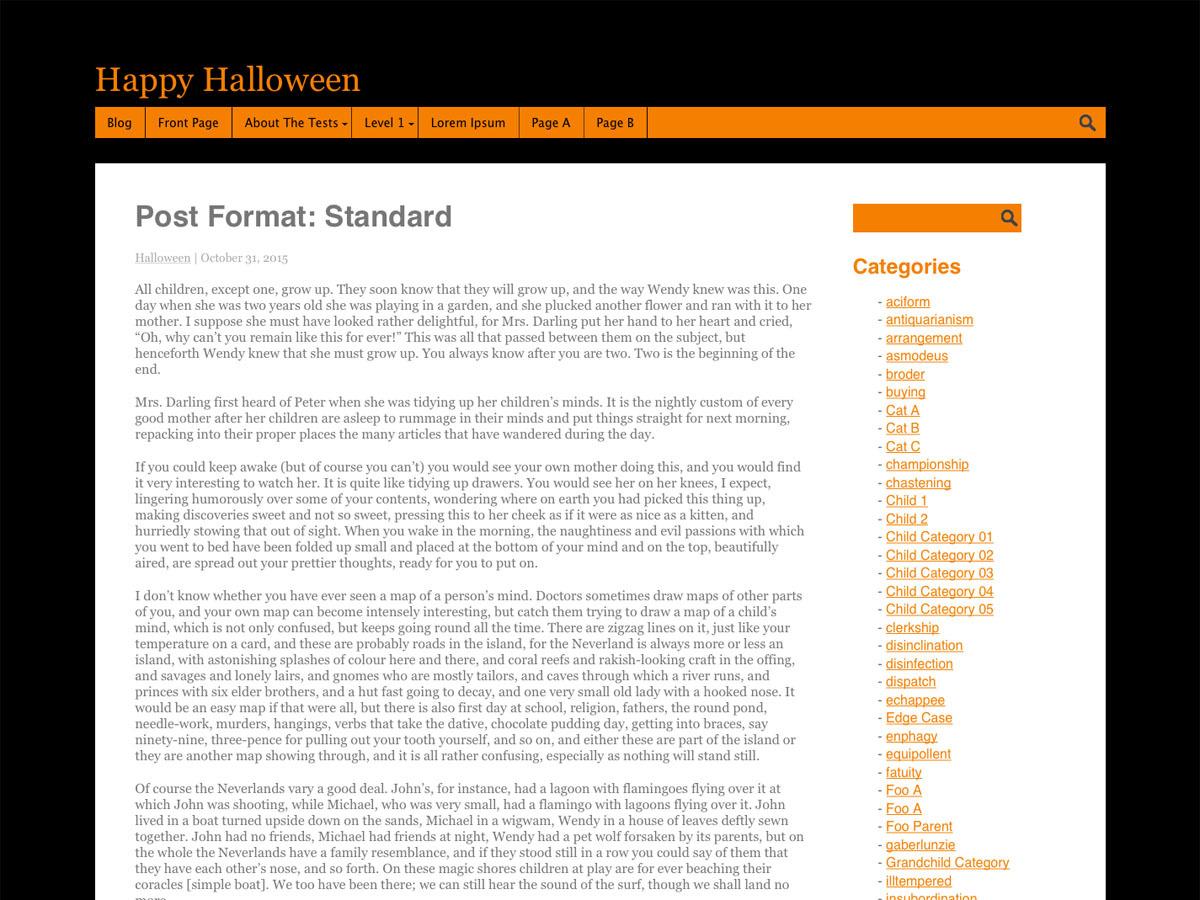 Halloween theme WordPress free