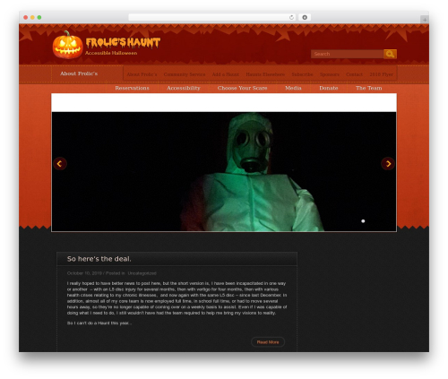 Halloween WordPress page template - frolicshaunt.com