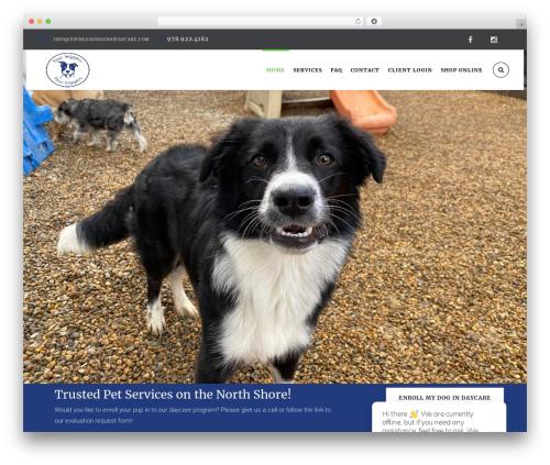 HappyPets theme WordPress - fourleggersdoggiedaycare.com