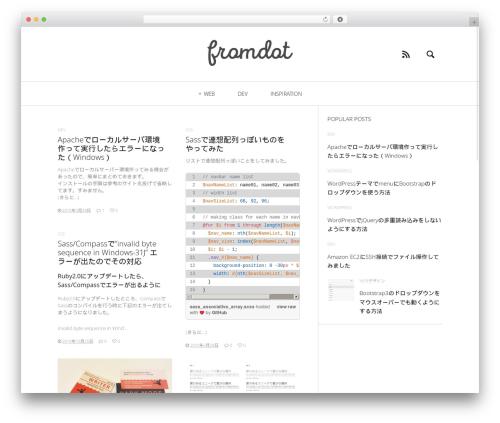 Heap WordPress theme design - fromdot.com
