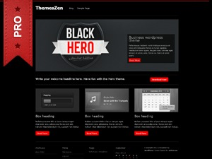 HeroPro WordPress template for business