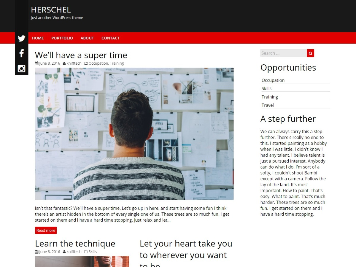 Herschel template WordPress free