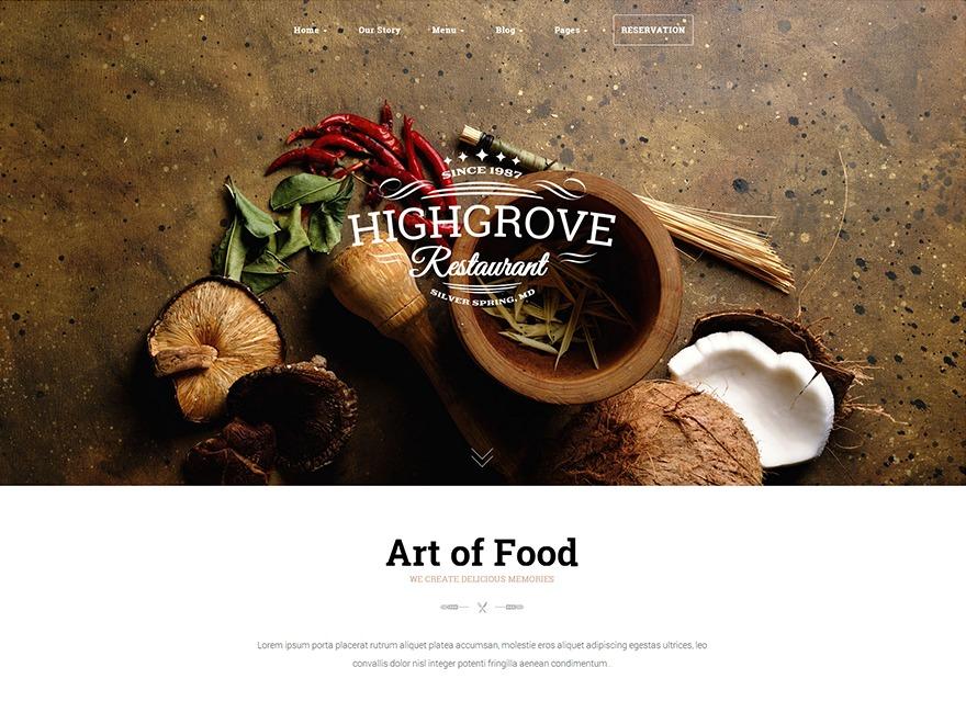 HG Restaurant best restaurant WordPress theme