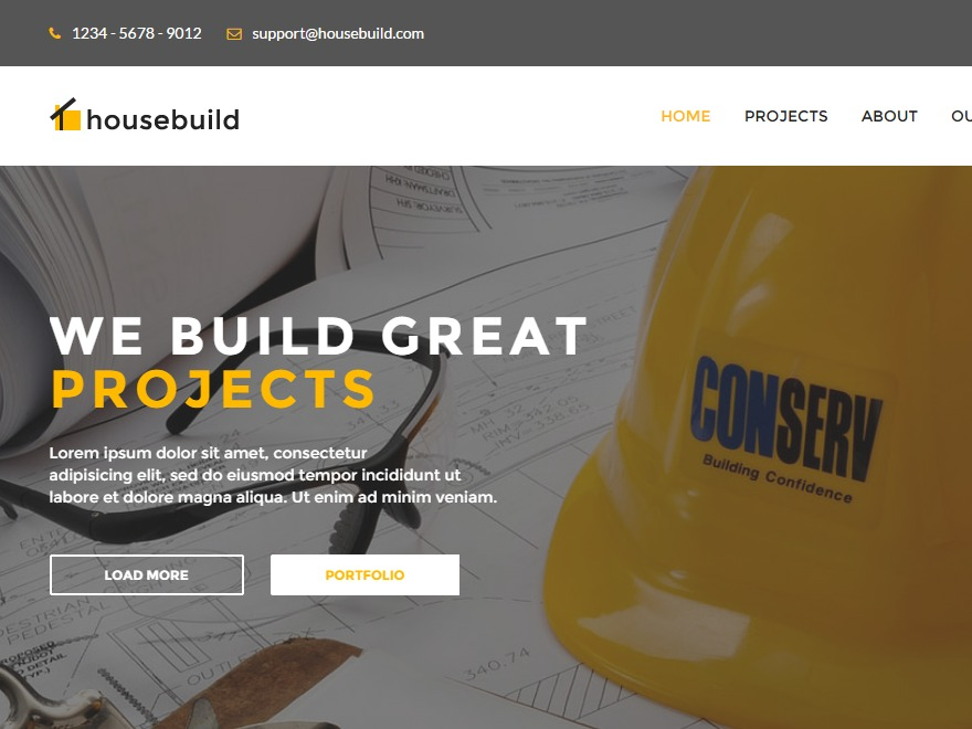 House Build WordPress theme design