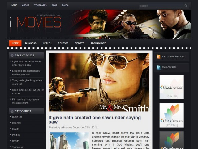 iMovies WordPress video theme