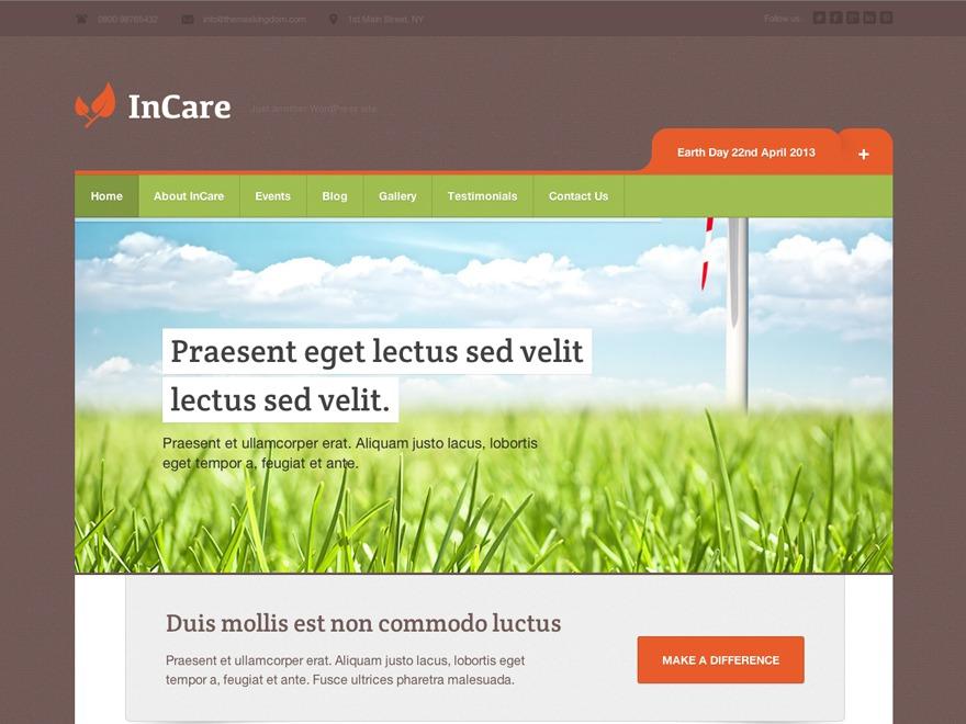 InCare WordPress magazine theme