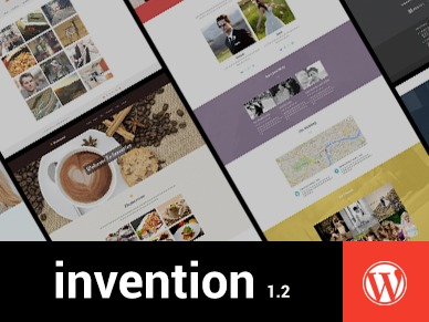 Invention personal blog WordPress theme