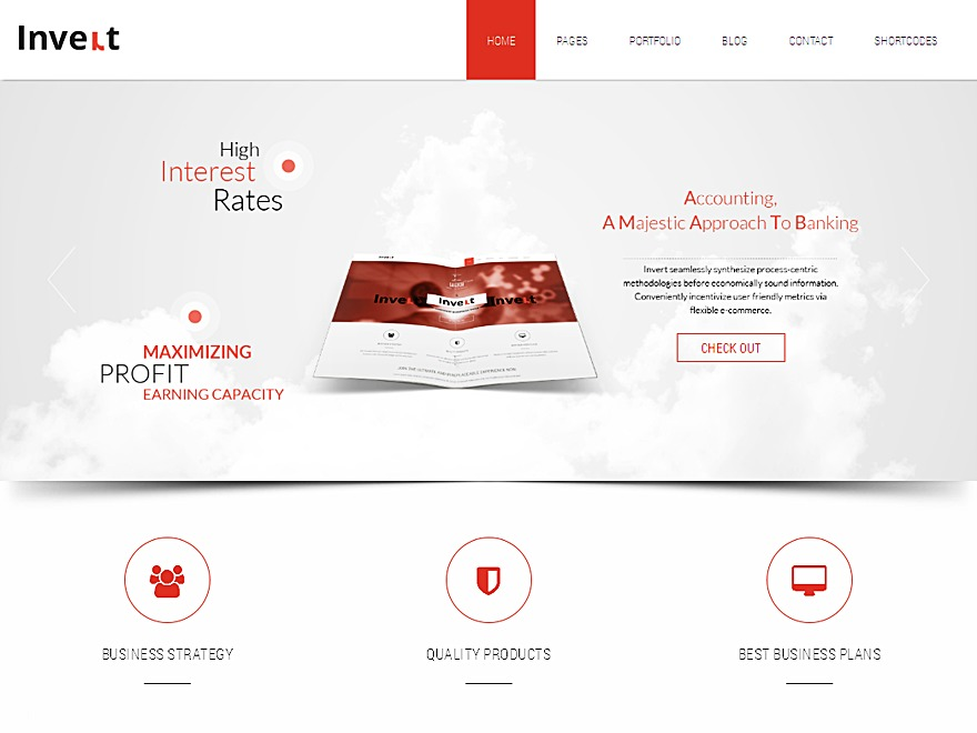Invert premium WordPress theme