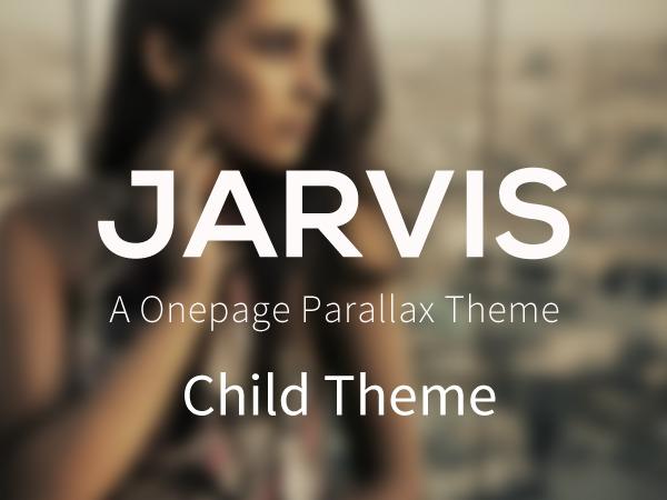 Jarvis 3.7.3 Chid theme WordPress portfolio