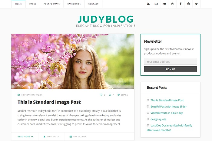 Judy Blog WordPress blog template