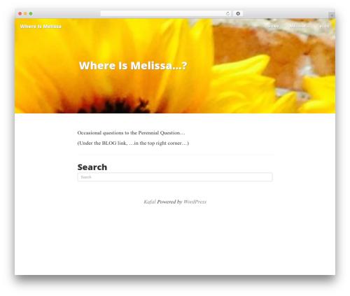 Kafal template WordPress free - whereismelissa.com
