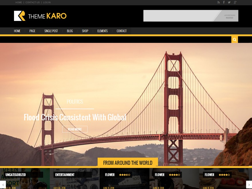 Karo Light WordPress news theme