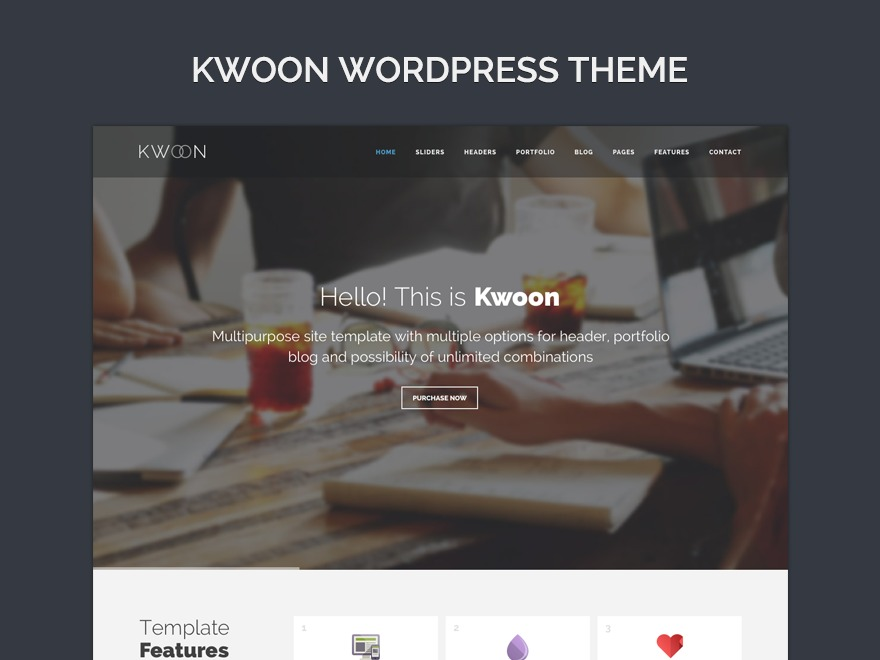 Kwoon best WordPress template