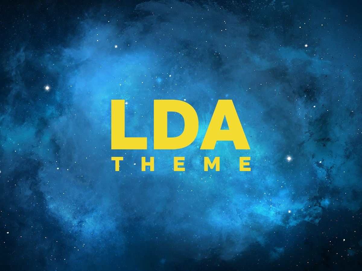 LDA WordPress page template