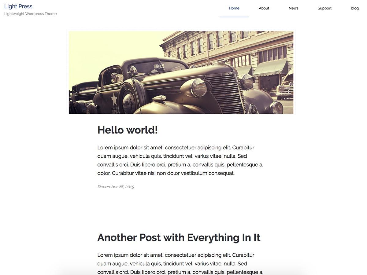 lightpress template WordPress free