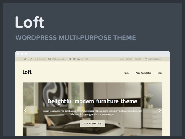 Loft best WooCommerce theme