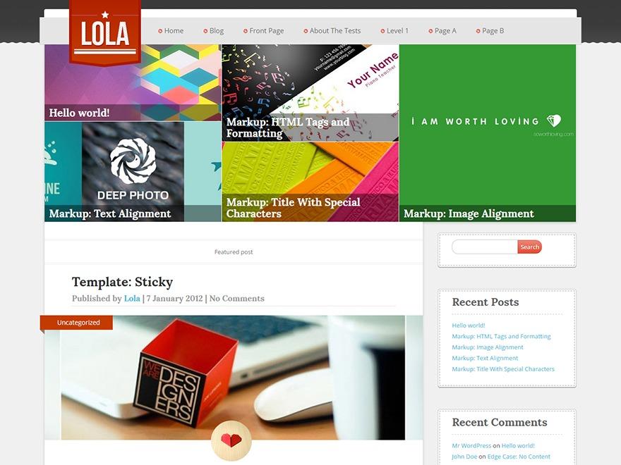 Lola WordPress blog theme