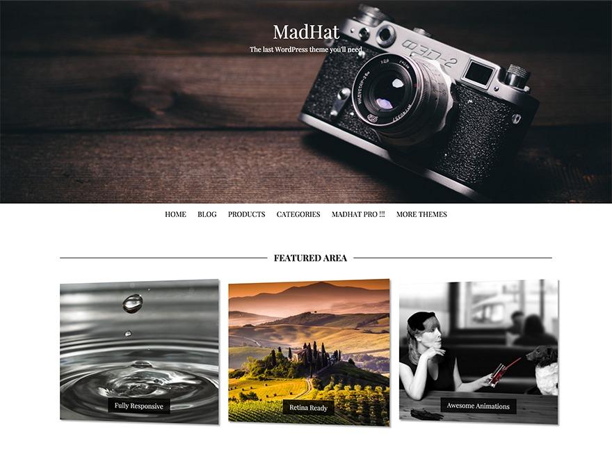 MadHat best free WordPress theme