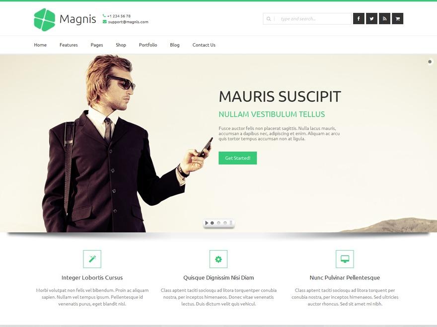 Magnis WordPress magazine theme