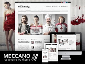 Meccano fitness WordPress theme