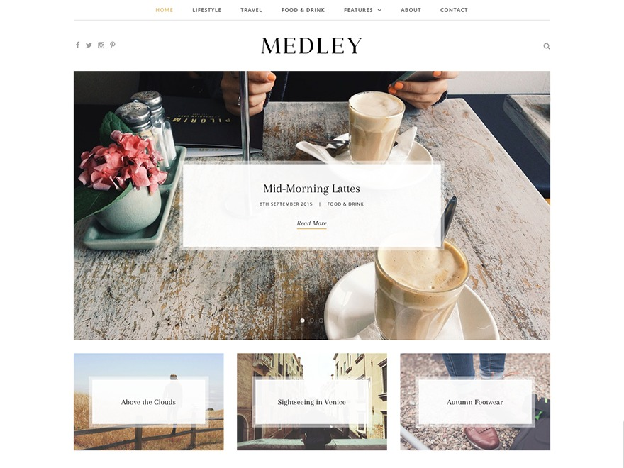 Medley WordPress blog theme