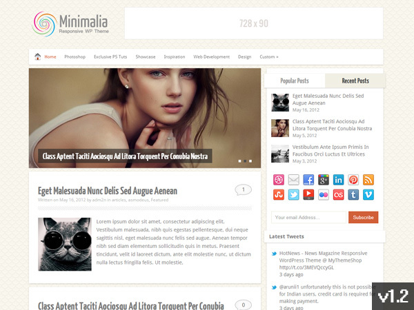Minimalia WordPress ecommerce theme