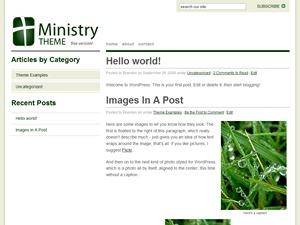 Ministry Free WordPress blog template
