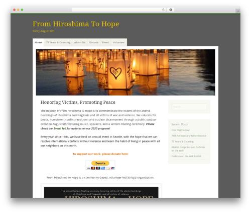Misty Lake WordPress page template - fromhiroshimatohope.org