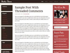 Mocha Child Theme WordPress theme design