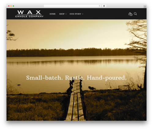 Mr. Tailor WordPress template for business - waxcandlecompany.com