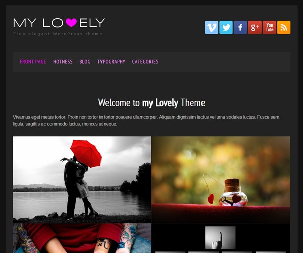my lovely theme WP template