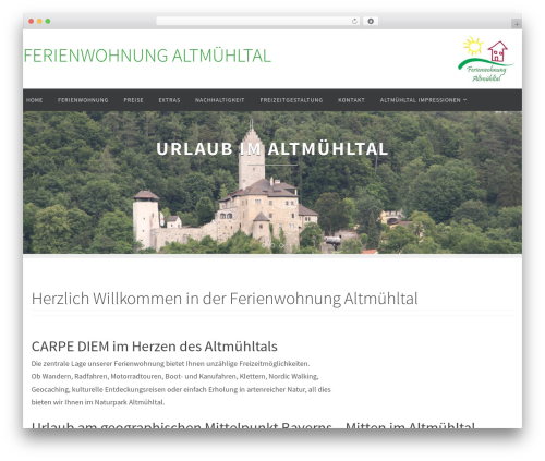 Nirvana free WordPress theme - fewo-altmuehltal.de