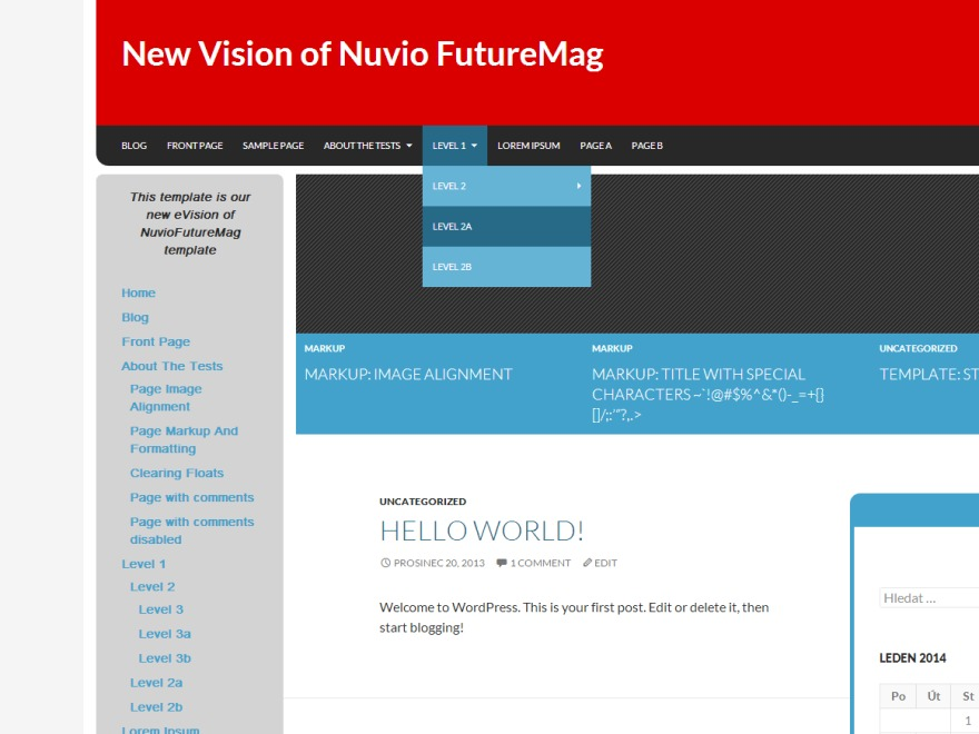 NuvioFutureMag Red newspaper WordPress theme