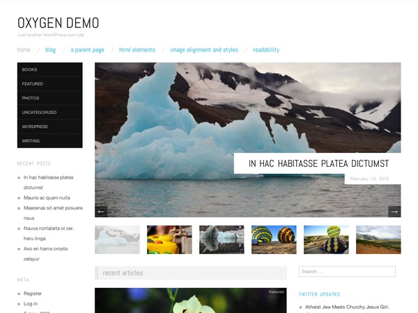 Oxygen – WordPress.com WordPress magazine theme
