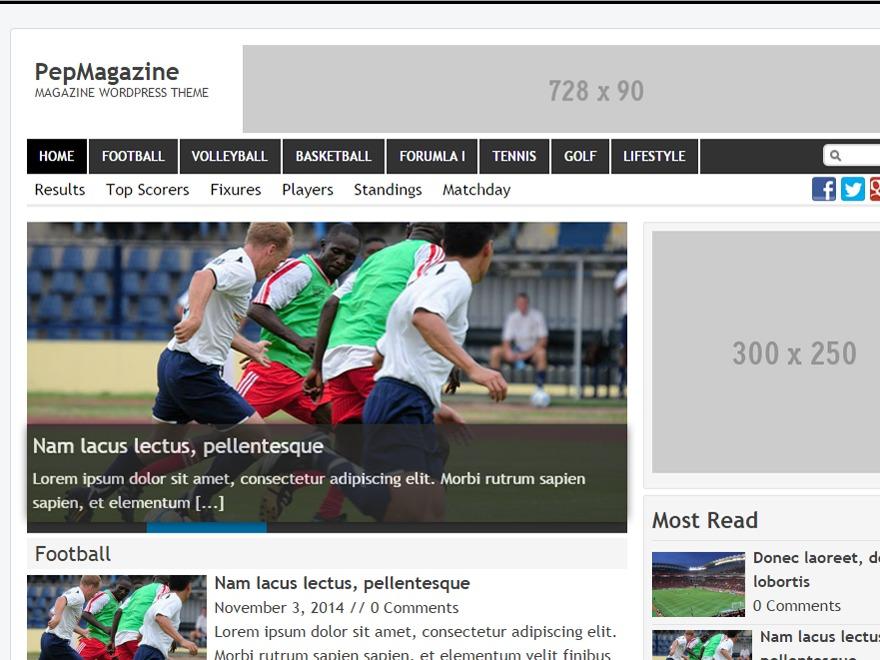 PepMagazine WordPress magazine theme