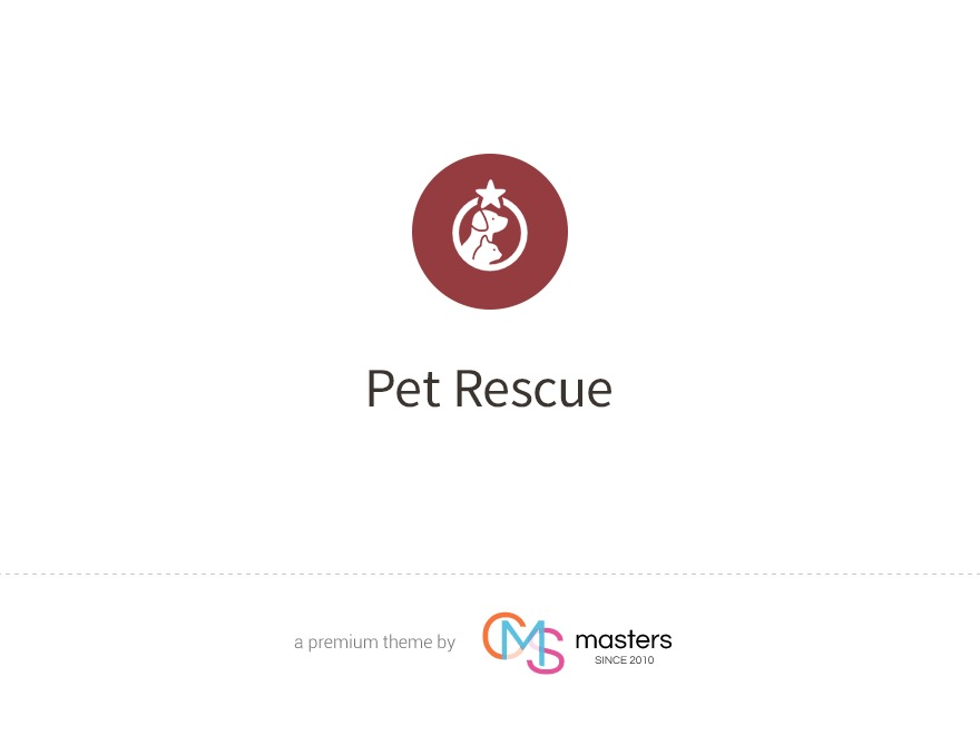Pet Rescue theme WordPress portfolio