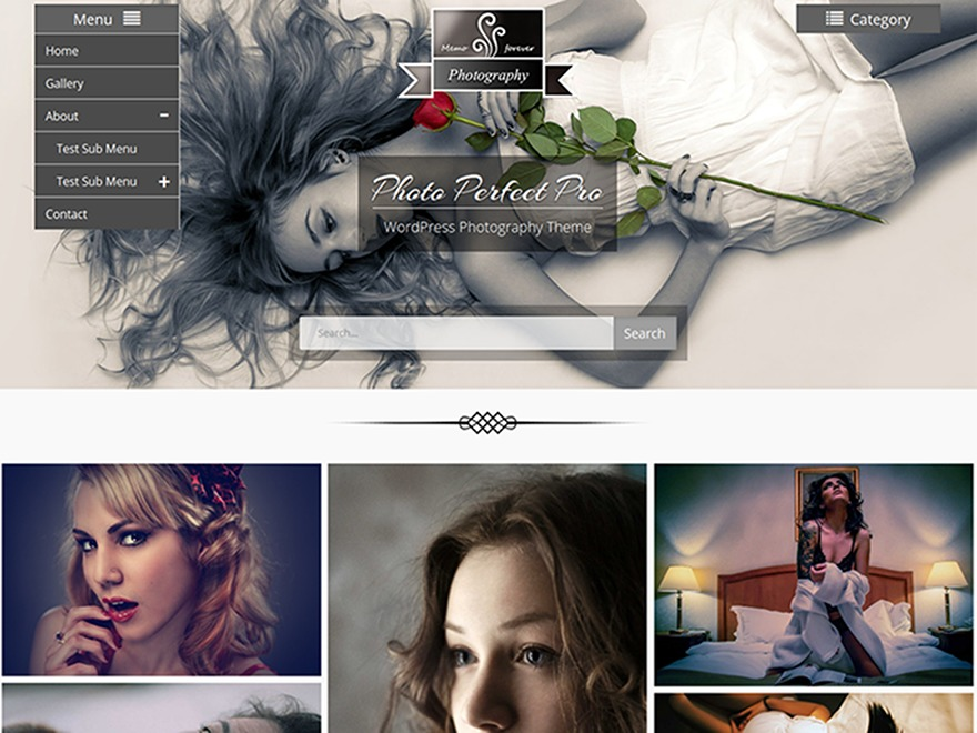 Photo Perfect Pro WordPress blog template