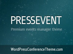 PressEvent template WordPress