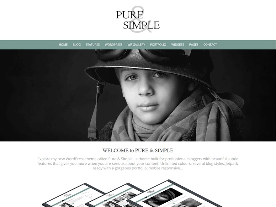 Pure Simple Pro WordPress template for photographers