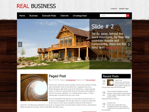RealBusiness business WordPress theme