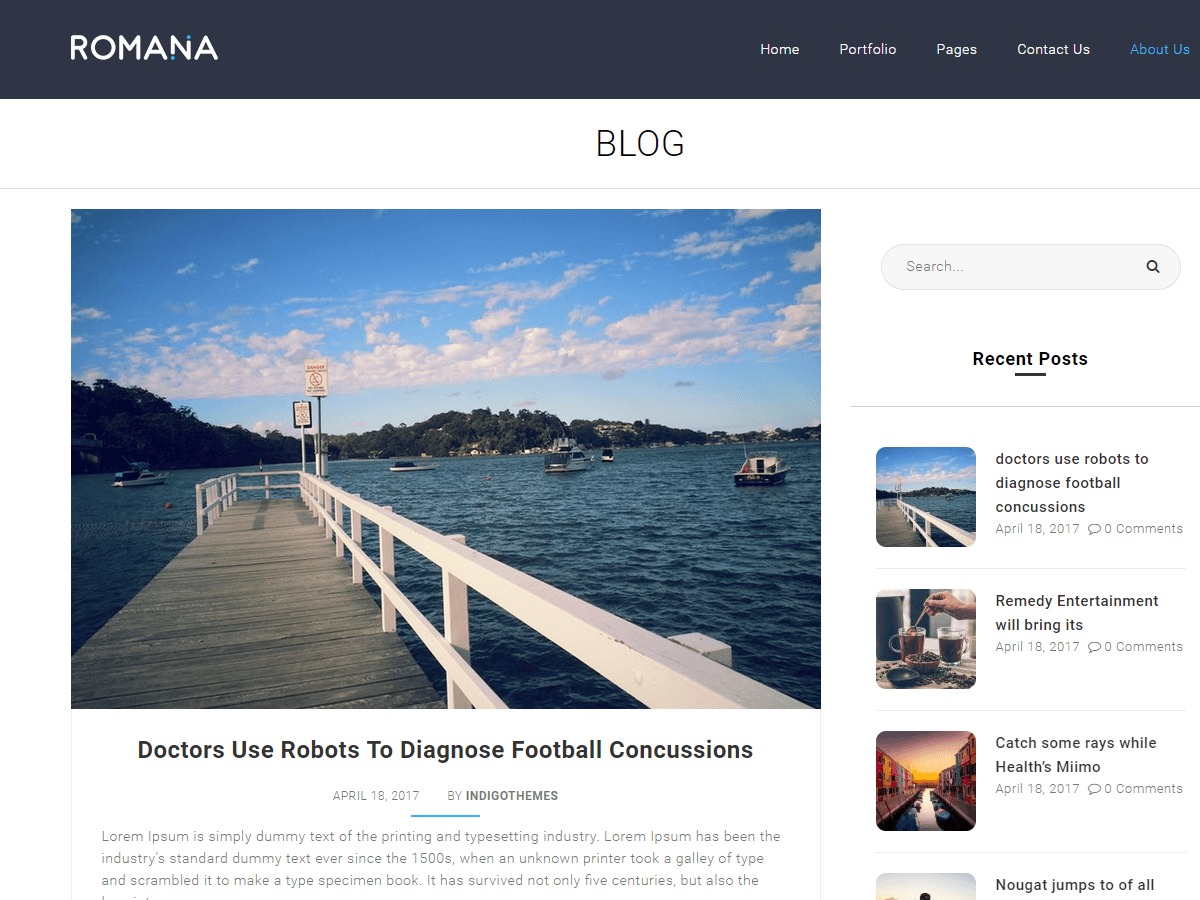 Romana theme WordPress free