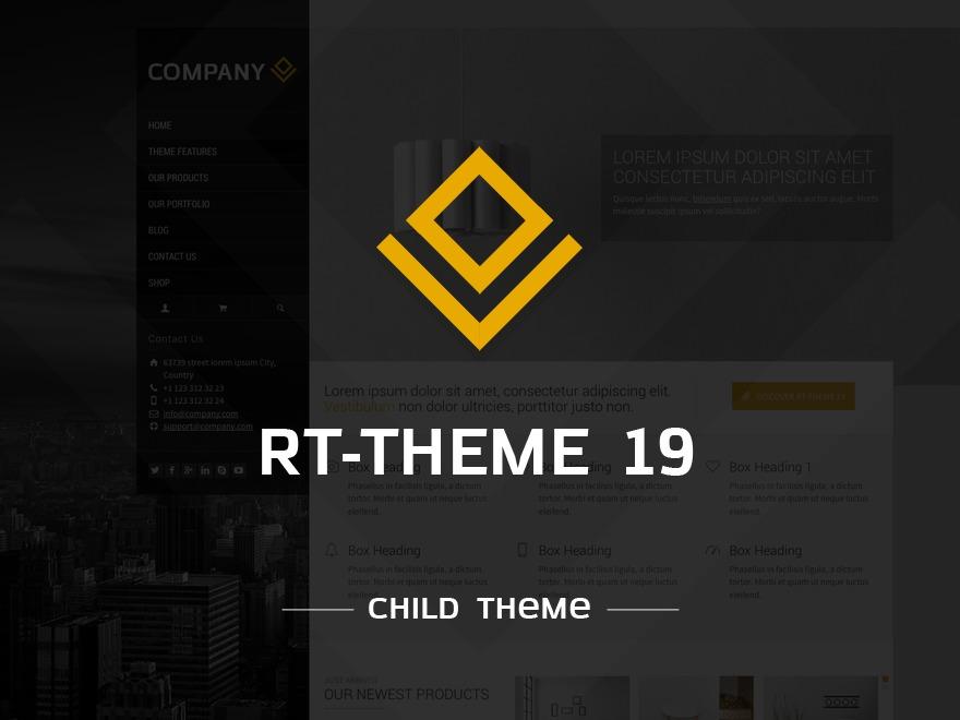 RT-Theme 19 | Child Theme WordPress theme