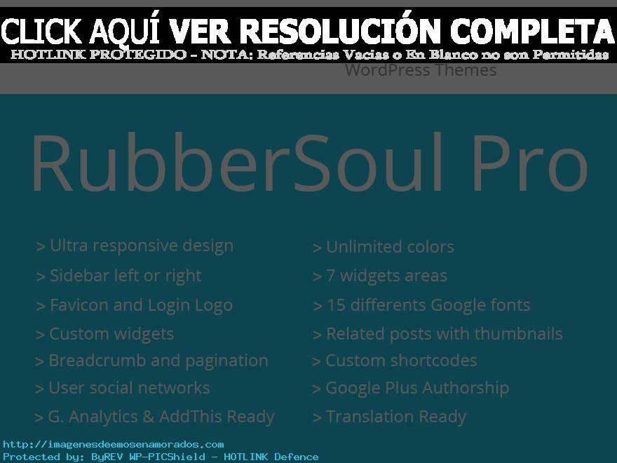 RubberSoul Pro theme WordPress