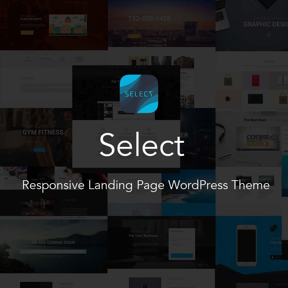 Select - Responsive Landing Page WordPress Theme WordPress landing ...