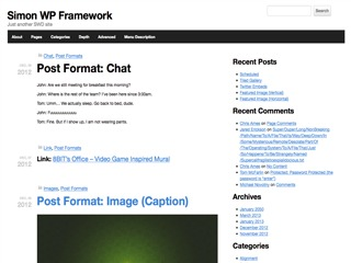 Simon WP Framework WordPress page template