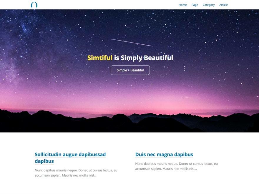 Simtiful WordPress blog theme