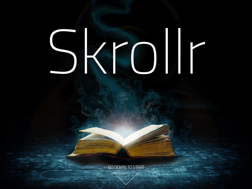 Skrollr theme WordPress