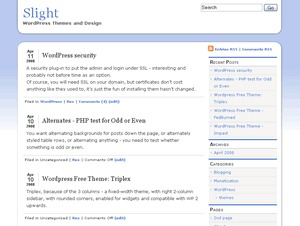 slight WordPress theme