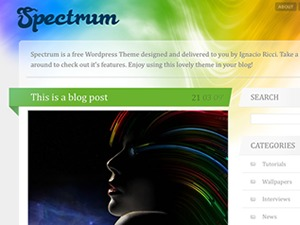 Spectrum WordPress theme